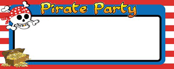 Gold Tooth Pirate Happy Birthday Design Small Personalised Banner - 4ft x 2ft