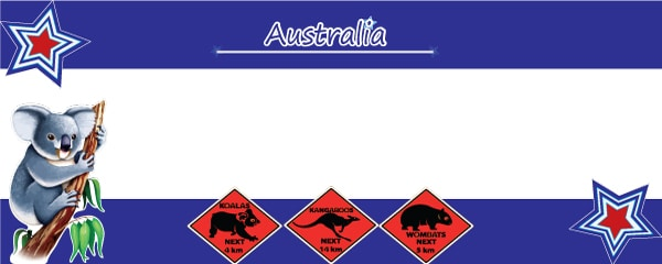 Australian Adventure Design Small Personalised Banner - 4ft x 2ft