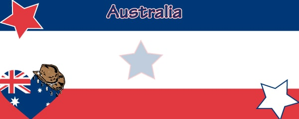 Australian Hearts and Stars Design Large Personalised Banner - 10ft x 4ft