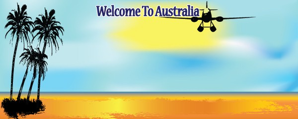 Welcome To Australia Design Medium Personalised Banner - 6ft x 2.25ft