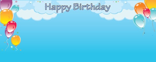Balloons in the Sky Design Small Personalised Banner - 4ft x 2ft