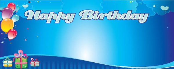 Happy Birthday Dream Design Small Personalised Banner - 4ft x 2ft