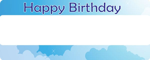 Birthday Boy in the Clouds Design Small Personalised Banner - 4ft x 2ft