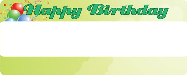 Happy Birthday Faded Green Design Small Personalised Banner - 4ft x 2ft