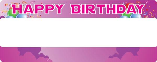 Birthday Girl Purple Sky Celebration Design Large Personalised Banner - 10ft x 4ft