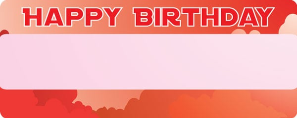 Happy Birthday Red Sky Design Large Personalised Banner - 10ft x 4ft