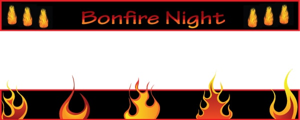Bonfire Night Fire Set Design Small Personalised Banner - 4ft x 2ft