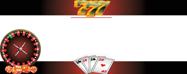 Roulette Dice and Treble Sevens Design Small Personalised Banner - 4ft x 2ft