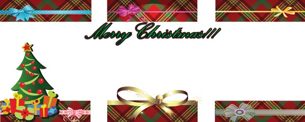 Christmas Present Design Small Personalised Banner - 4ft x 2ft