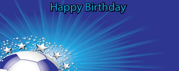 Happy Birthday Football Champion Design Small Personalised Banner- 4ft x 2ft