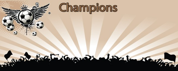 Football Champions Design Small Personalised Banner- 4ft x 2ft