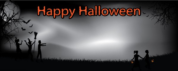 Trick Or Treat Design Small Personalised Banner - 4ft x 2ft
