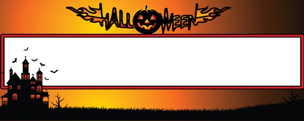 Flaming Pumpkin Design Large Personalised Banner - 10ft x 4ft