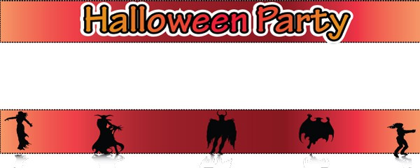 Halloween Party Fancy Dress Design Medium Personalised Banner - 6ft x 2.25ft