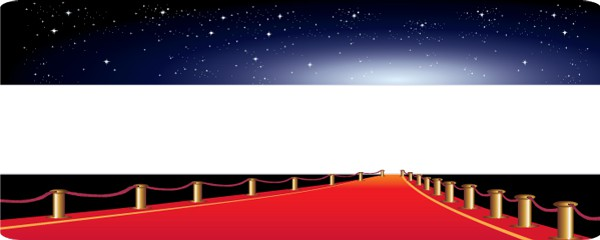 Red Carpet Special Design Small Personalised Banner- 4ft x 2ft