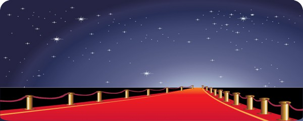 Red Carpet & Night Sky Design Large Personalised Banner - 10ft x 4ft