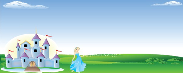 Princess Fairyland Design Medium Personalised Banner - 6ft x 2.25ft