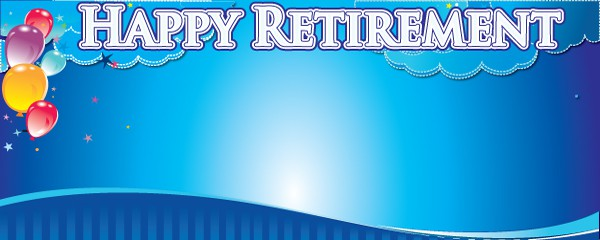 Happy Retirement Dream Design Small Personalised Banner- 4ft x 2ft