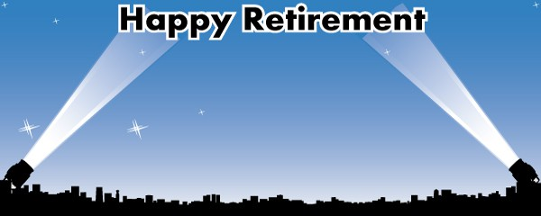 Happy Retirement Sky's The Limit Design Small Personalised Banner- 4ft x 2ft