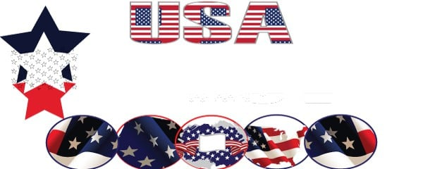 USA A Piece of the Flag Design Small Personalised Banner- 4ft x 2ft