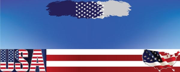 The American Stars Stripes and Colours Design Small Personalised Banner- 4ft x 2ft