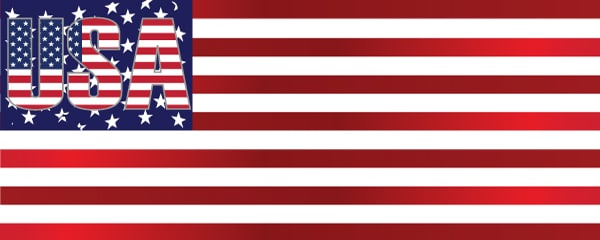 The American Flag Design Small Personalised Banner- 4ft x 2ft