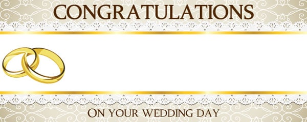 Wedding Rings Design Small Personalised Banner – 4ft x 2ft