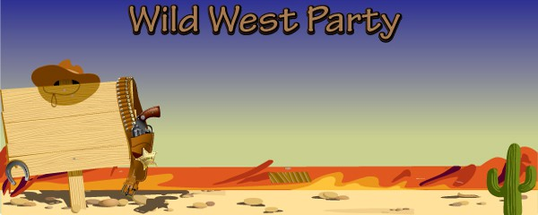 Wild West Party Design Small Personalised Banner - 4ft x 2ft