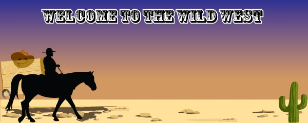 Wild West Lone Cowboy Design Small Personalised Banner - 4ft x 2ft