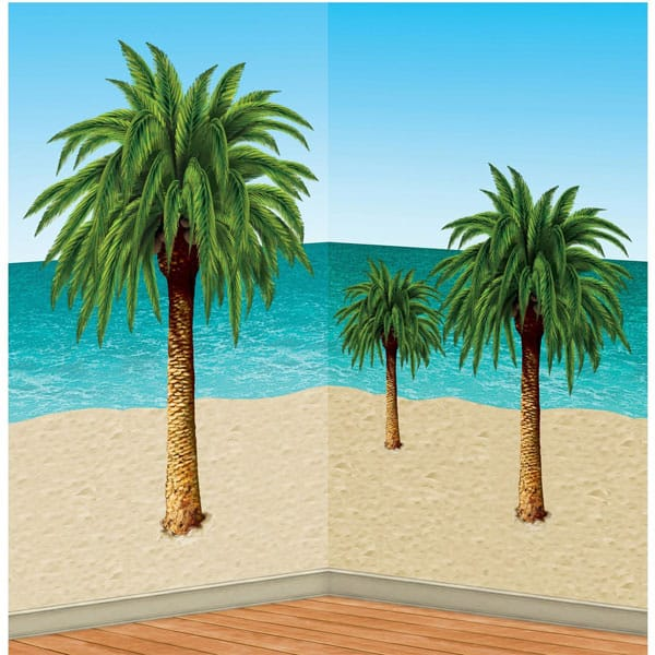 Palm Trees Backdrop Scene Setter Add-Ons - Pack of 6
