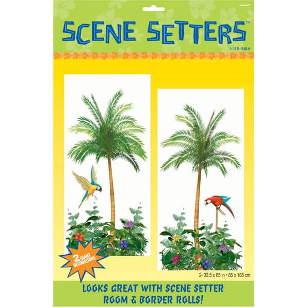 Palm Trees Backdrop Scene Setter Add-Ons - Pack of 2