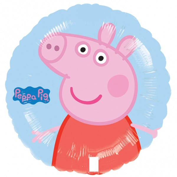 Peppa Pig Round Foil Helium Balloon 43cm / 17Inch Product Image