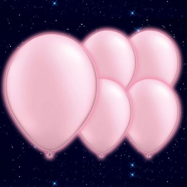 Pink Illoom Balloons - 9 Inches / 23cm - Pack of 5