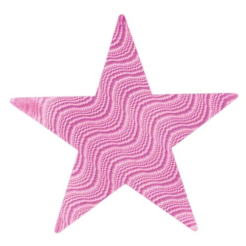Pink Embossed Foil Star 12 Inch Product Image