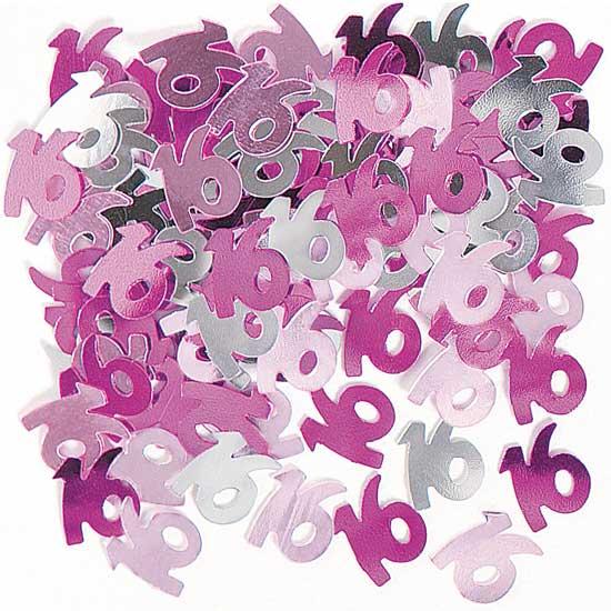 Pink Glitz 16th Birthday Table Confetti - 14 Grams
