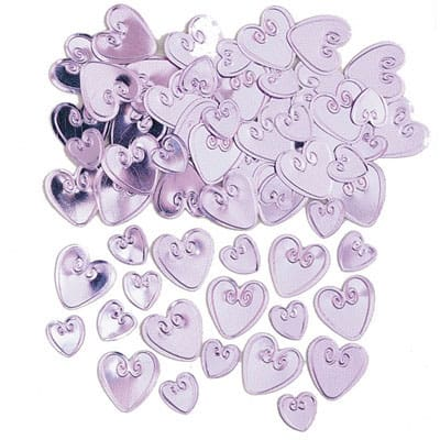 Pink Loving Hearts Table Confetti - 14 Grams