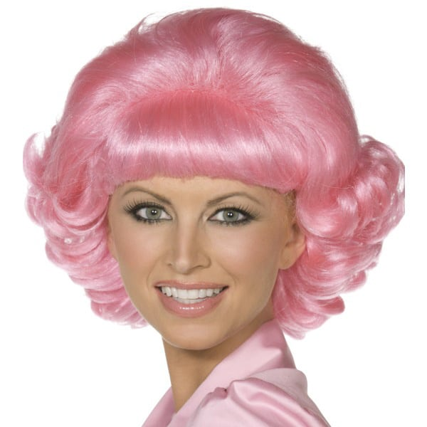 Pink School Drop-out Frenchy Ladies Short Wig
