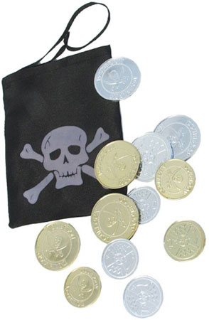 Pirate Coins With Bag
