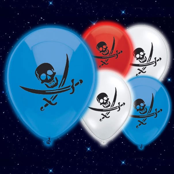 Pirates Illoom Balloons - 9 Inches / 23cm - Pack of 5