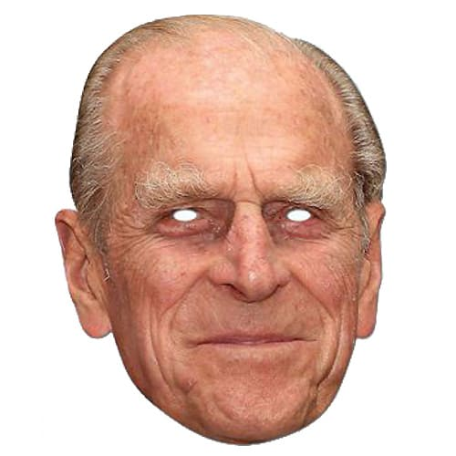 Prince Philip Cardboard Face Mask
