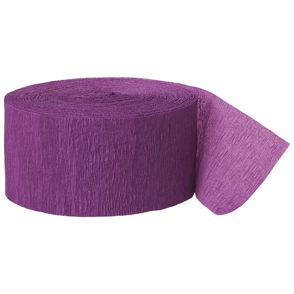 Purple Crepe Streamer - 81 Ft / 24.6m Product Image