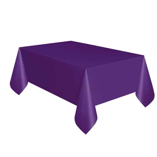 Purple Plastic Tablecover 274cm x 137cm