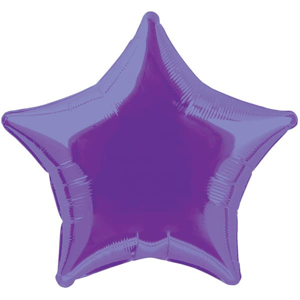 Purple Star Foil Helium Balloon 51cm / 20Inch