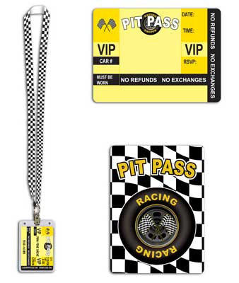 Racing Pit Pass - Single Product Image