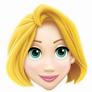 Disney Princess Rapunzel Cardboard Face Mask Product Image