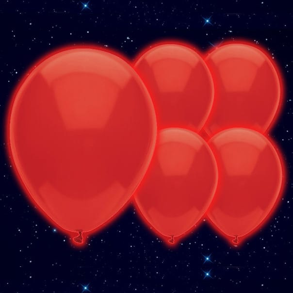 Red Illoom Balloons - 9 Inches / 23cm - Pack of 5