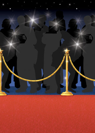 Red Carpet Backdrop Scene Setters Room Roll Product Image