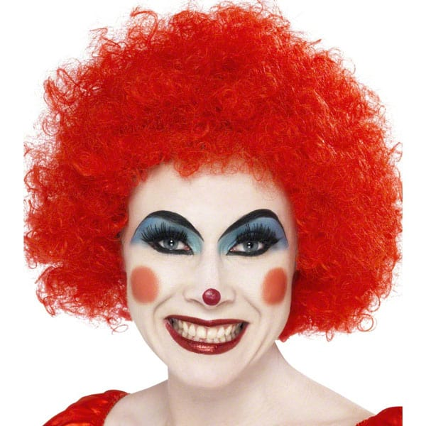 Funky Red Unisex Afro Wig Product Image