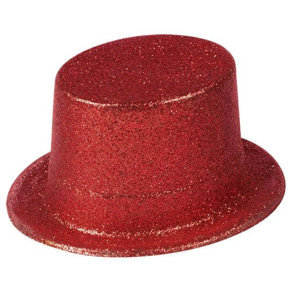 Red Glitter Topper Hat