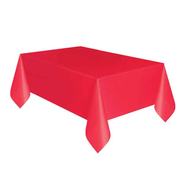 Red Plastic Tablecover 274cm x 137cm Product Image